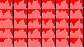 Rynek Papierów Wartościowych mapa downtrend Zdjęcie Stock