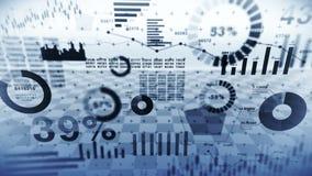 Rynek Papier?w Warto?ciowych inwestyci handel Biznesowe infographic mapy i wykresy Abstrakcjonistyczna pieniężna mapa z uptrend l zbiory wideo