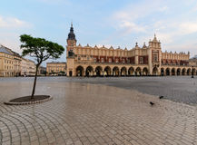 Rynek square in Krakow, Poland in the early morning. Rynek square in Krakow, Poland. Europe in the early morning Stock Image