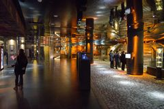 Rynek underground museum in Krakow, Poland royalty free stock photography