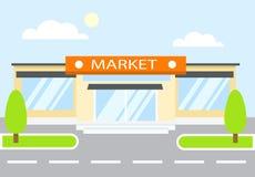 Rynek w dniu Sklep Obrazy Stock
