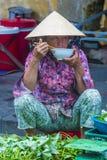 Rynek w Hoi Wietnam Zdjęcia Royalty Free