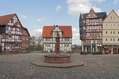 Rynek w na wolnym powietrzu muzeum Hessenpark obrazy royalty free