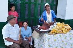 Rynek w San Agustin, Kolumbia - Obraz Stock