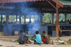 Rynek w Wamena, Papua prowincja Indonezja Zdjęcie Royalty Free