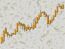 rynek walutowy royalty ilustracja