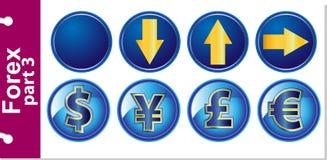 Rynek walutowy część 3 Zdjęcia Stock