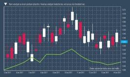 Rynek walutowy mapy szablonu infographic próbka również zwrócić corel ilustracji wektora Zdjęcia Stock