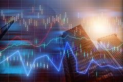 Rynek walutowy mapy tło royalty ilustracja