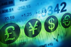 Rynek walutowy waluty handlu pojęcie Fotografia Stock