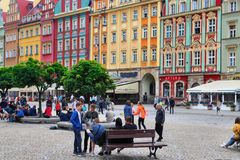 Rynek, Wroclaw image libre de droits