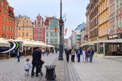 Rynek, Wroclaw royalty-vrije stock foto's