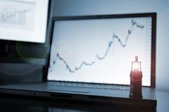 rynek wycena obraz stock