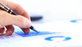 Rynków Papierów Wartościowych wykresów monitorować Obrazy Stock