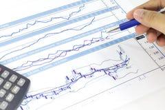 Rynków Papierów Wartościowych wykresy Zdjęcie Stock