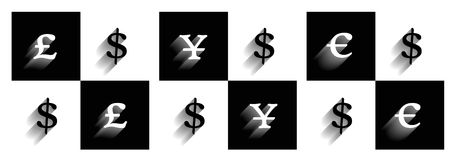 Rynków walutowych symbole Obrazy Royalty Free