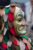 Rynka pannan karnevalmaskeringen Arkivfoto