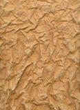 rynkat ark för brunt papper Royaltyfri Bild