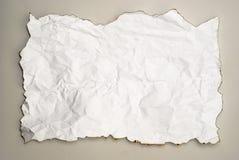 rynkat bränt papper Arkivfoton