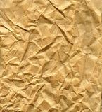 rynkat brunt papper för påse Arkivbilder