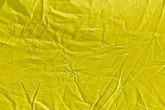 Rynkig gul torkduk som bakgrund Royaltyfri Fotografi