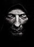 Rynkig man för läskig ondska royaltyfri foto