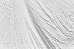 Rynkig vit torkduk som bakgrund Royaltyfri Fotografi
