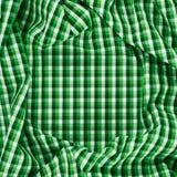 Rynkigt kvadrerat torkduketyg Arkivfoton