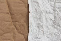 Rynkigt papper som en bakgrund Arkivbilder