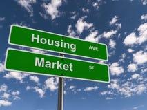 Rynku Budownictwa Mieszkaniowego znak Zdjęcie Royalty Free