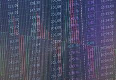 Rynku Papierów Wartościowych Candlestick i Sporządzamy mapę Stosownego dla Pieniężnej inwestyci pojęcia Abstrakta finansowy tło Fotografia Stock
