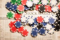 Rynku Papierów Wartościowych ryzyko fotografia stock