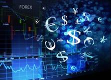Rynku walutowego ekran Obraz Royalty Free