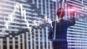Rynku walutowego handel, rynek finansowy, Inwestorski pojęcie na centrum biznesu tle obrazy stock