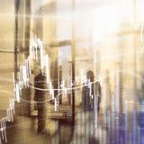 Rynku walutowego handel, rynek finansowy, Inwestorski pojęcie na centrum biznesu tle obraz stock
