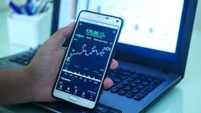 Rynku walutowego handlarski wykres zdjęcie stock