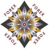 Rynku walutowego koło waluty zdjęcia royalty free