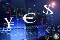Rynku walutowego pojęcie Zdjęcia Stock