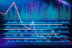 Rynku walutowego wykres iść w dół royalty ilustracja