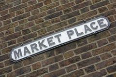 Rynku znak Zdjęcie Royalty Free