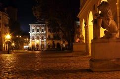 Rynok Quadrat in Lviv Lizenzfreie Stockbilder