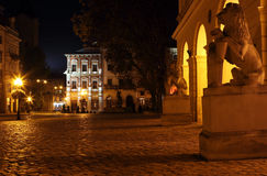 Rynok square in Lviv Royalty Free Stock Images