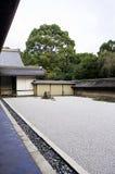 Ryoan-ji temple in Kyoto, Japan. Rock garden (also called a Zen Garden) at the Ryoan-ji temple in Kyoto, Japan Stock Photos