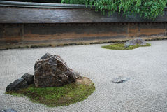 Ryoanji Temple Rock Garden Royalty Free Stock Photos