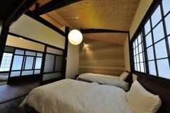 Ryokan bedroom. Japanese Kyoto Ryokan bedroom design Stock Photos