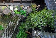 Ryokan trädgård Arkivfoton