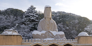 Ryozen Kannon. Statue in Kyoto, Japan royalty free stock images