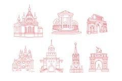Rysk arkitektur Arkivfoton