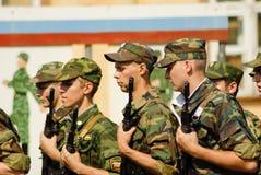 Rysk armé Arkivfoton