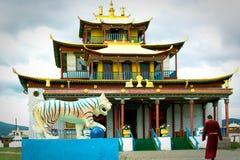 Rysk buddistisk tempel Arkivbilder